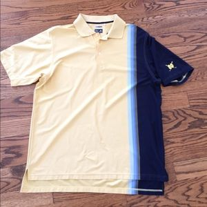 Adidas Notre Dame polo gold and blue size large